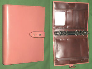Compact 1 0 Pink Full Grain Leather Franklin Covey Planner Sedona Binder 2126