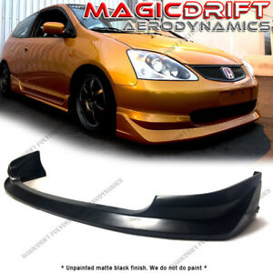 For 02 05 Honda Civic Si Hatchback Aw Walker Jdm Front Bumper Lip Spoiler Kit