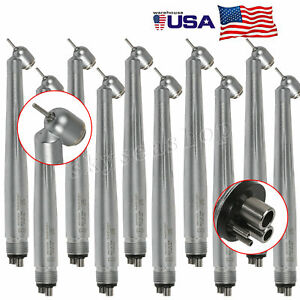 10 Pieces Dental 45 Degree Surgical High Speed Handpiece 4 Hole Midwest Fit Nsk