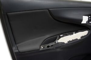 Door Panel Insert Cards Leather Synthetic For Toyota Corolla 09 13 Black