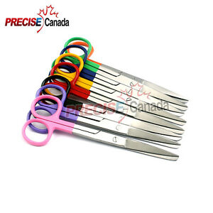 New Set Of 8 Operating Surgical Scissors Mix Colors Handle 5 5 Str Sharp blunt