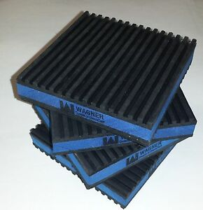 96 Pack Anti Vibration Pad Isolation Dampener Super Heavy Duty Blue 4x4x7 8 Mp4e