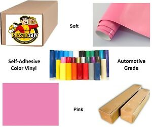 24 X 50yd 6yr Outdoor Sign Vinyl Film Craft Hobby Roll Sheet Pink