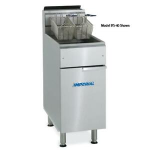 Imperial Ifs 2525 Elite 25 Lb Split Pot Commercial Gas Fryer