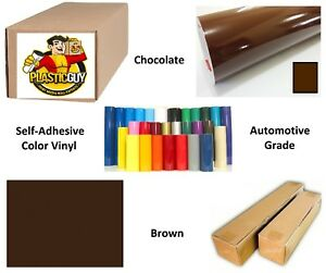 24 X 50yd 6yr Outdoor Sign Vinyl Film Craft Hobby Roll Sheet Brown
