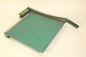 Vtg Premier Photo Trimmer Paper Cutter 16 Cutting Board Heavy Duty Guillotine