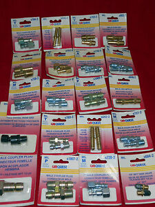 45 Display Assorted Milton Carques Lot Of Couplers Plug Diferents Models New