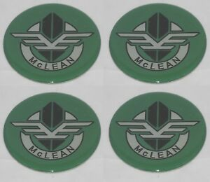 4 Green Mclean Wire Wheel Rim Center Cap Round 2 50 63 5mm Sticker Logo