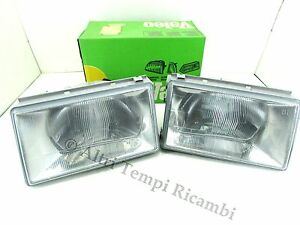 Pair Headlamp Fiat Regata 83 89 Headlamp Front Scheinwerfer Proyector