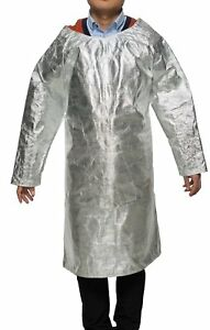 Welding Apron Aluminized Heat Resistant Apron Protective Coat Safety Suit Safety