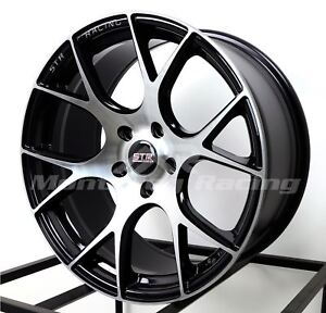 18x8 5 5x114 3 Str 905 Black Machine Face Made For Toyota Dodge Honda Hyundai