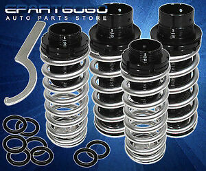 For 00 05 Mitsubishi Eclipse 3g Silver Jdm Scaled Coilover Lowering Springs Kit