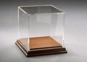 Acrylic Box Cases With Walnut Base Perfect To Display A Variety Of Items