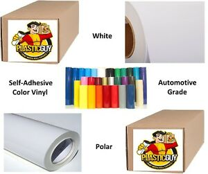 24 X 50yd 6yr Outdoor Sign Vinyl Film Craft Hobby Roll Sheet White