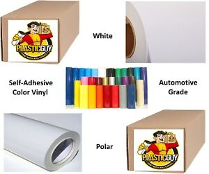 White Self adhesive Sign Vinyl 24 X 150 Ft Or 50 Yd 1 Roll