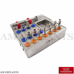 Dental Surgical Drill Kit Drills Drivers Ratchet Dental Implant Kit Brand New