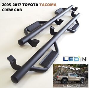 Side Step Nerf Bar For 05 18 Toyota Tacoma Crew Cab Drop Step Hoop Tube Texture