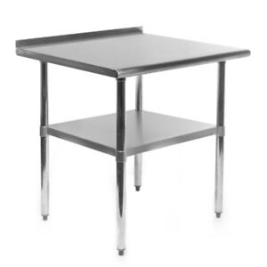 30 X 24 Stainless Steel Commercial Kitchen Prep And Work Table With Backsplash