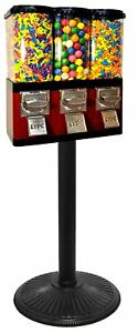 Triple Pod Candy Gumball Vending Machine red Brand New Item