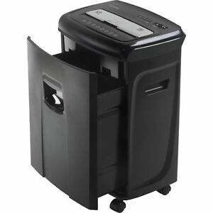Document Shredder Paper Machine Heavy Duty Crosscut Black Electric Junk Mail 12s