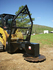 Bobcat Cat Skid Steer Attachment Vail High Flow Rotating Tree Saw Cutter