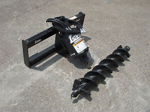 Bobcat Skid Steer Attachment Lowe Bp210 Round Auger With 6 Bit Ship 199