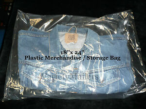 100 Extra Large 18 x 24 Clear Flat Plastic Merchandise Storage Bags 1 5 Mil