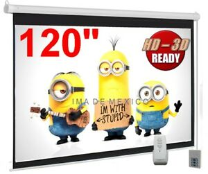 New Enormous 120 Motorized Electric Projector projection Screen Hd 16 9 Format