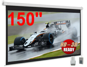 New Gigantic 150 Motorized Electric Projector projection Screen Hd 16 9 Format