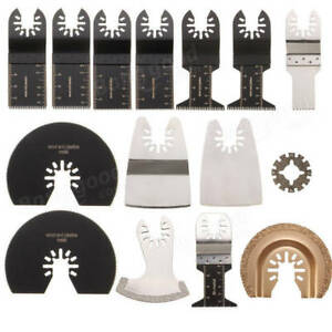 15pcs Saw Blades Kit For Rockwell Sonicrafter Worx Oscillating Multitool