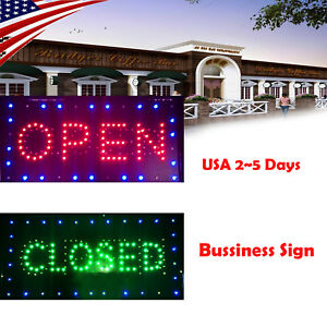 Usa Ultra Bright Led Neon Light Open closed Business Sign For Bar Resterant Fda