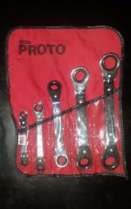 Stanley Proto P 5 Piece Metric Reversible Ratcheting Box Wrench Set 12 Point