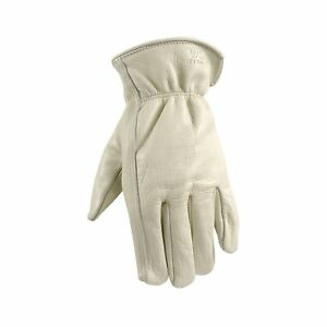 Wells Lemont Leather Work Gloves With Reinforced Suede Palm Patch Grain Cowh