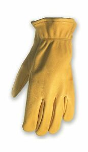 Deerskin Driver Gloves Full Leather Work And Driving Gloves Medium wells L