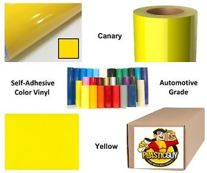 24 X 50yd 6yr Outdoor Sign Vinyl Film Craft Hobby Roll Sheet Canary Yellow