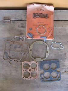 Nos Vintage Carter Carburetor Gasket Assortment No 277a 1956 Cadillac