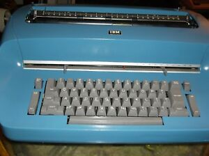 Ibm Antique Selectric I Blue Vintage 1960s Typewriter 15 carrage