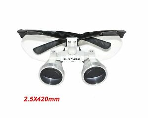 Zinnor fba Dentist Dental Surgical Medical Binocular Loupes 2 5x 420mm Opti