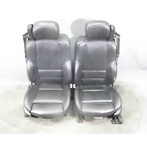 Bmw E46 M3 M Convertible Cabrio Front Sports Seat Pair Black Leather Oem