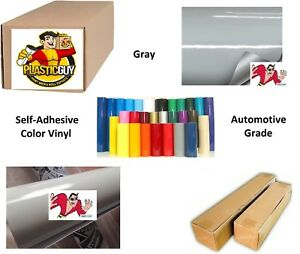 Gray Self adhesive Sign Vinyl 30 X 150 Ft Or 50 Yd 1 Roll