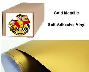 Gold Self adhesive Sign Vinyl 15 X 150 Ft Or 50 Yd 1 Roll