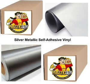 Silver Self adhesive Sign Vinyl 24 X 150 Ft Or 50 Yd 1 Roll