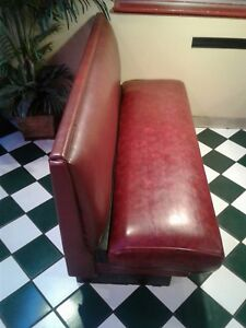 Professional Restaurant Booth Seating Burgundy Color Pre owned Local Lubbock Tx