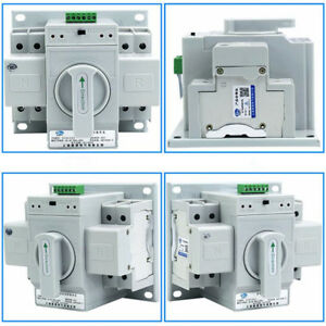 Home Dual Power Automatic Change over Transfer Switch 2p 63a 220v Toggle Switch