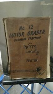 Cat Caterpillar 12 Parts Manual Catalog Motor Grader