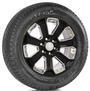 Chevy 20 Black With Chrome Wheels Bridgestone Tires Silverado Tahoe Suburban