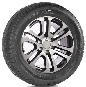 Chevy Silverado Tahoe 20 Black Machine Split Spoke Wheels Bridgestone Tires