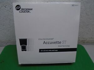 Beckman Coulter Coulter Counter Accuvette St 25 X 25 Ml Vials And Caps New