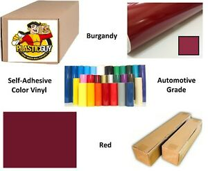 Burgandy Red Self adhesive Sign Vinyl 24 X 165 Ft Or 55 Yd 1 Roll