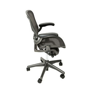 Herman Miller Aeron Office Chair Size B With Free Carpet Floor Mat